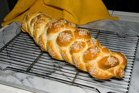 Six-braided Challah, own recipe  20070518-15.31.34