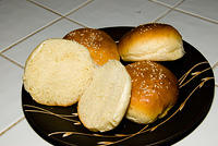 "Memorial Day Hamburger Buns, adapted from Jeffrey Hamelman's ""Bread""  20070528-14.55.52"